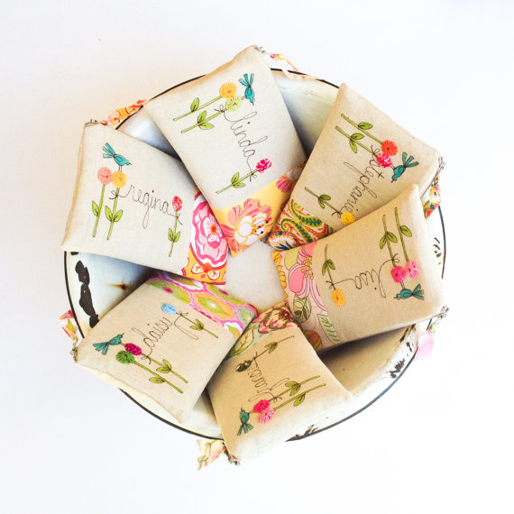 bridesmaid clutches instead of flowers by mamableudesigns | bridesmaid clutches instead of flowers via https://emmalinebride.com/bridesmaid/clutches-instead-of-flowers/