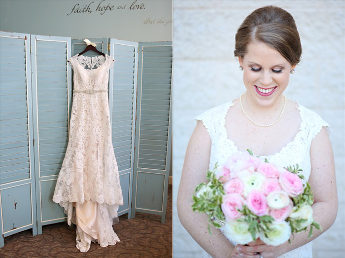 brides wedding dress | Sarah + JJ's Pretty Wedding at 173 Carlyle House | https://www.emmalinebride.com/real-weddings/pretty-wedding-173-carlyle-house/ | photo: Melissa Prosser Photography - Atlanta Georgia Wedding Photographer