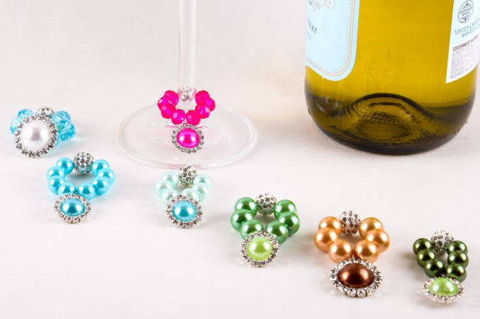 champagne glass charms