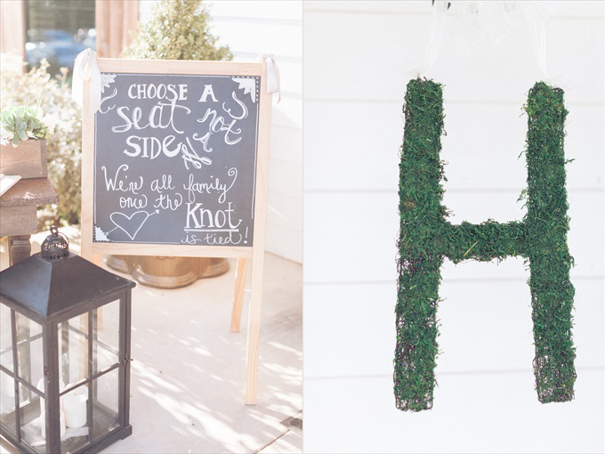 choose a seat not a side wedding sign moss letter | A Beautiful Sainte Terre Louisiana Wedding(Real Weddings) | http://www.emmalinebride.com/real-weddings/a-beautiful-sainte-terre-wedding-in-louisiana-real-weddings/ | Photo:  Photography by Micahla Wilson