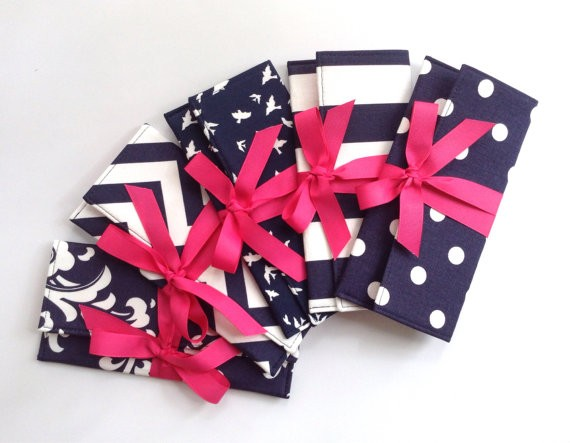 color clutches navy and pink