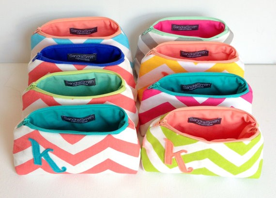 colorful initial bags