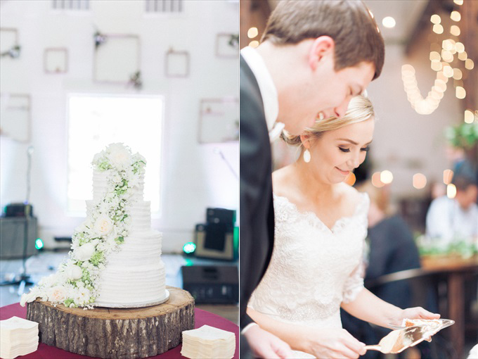 couple cutting wedding cake | A Beautiful Sainte Terre Louisiana Wedding(Real Weddings) | http://www.emmalinebride.com/real-weddings/a-beautiful-sainte-terre-wedding-in-louisiana-real-weddings/ | Photo:  Photography by Micahla Wilson