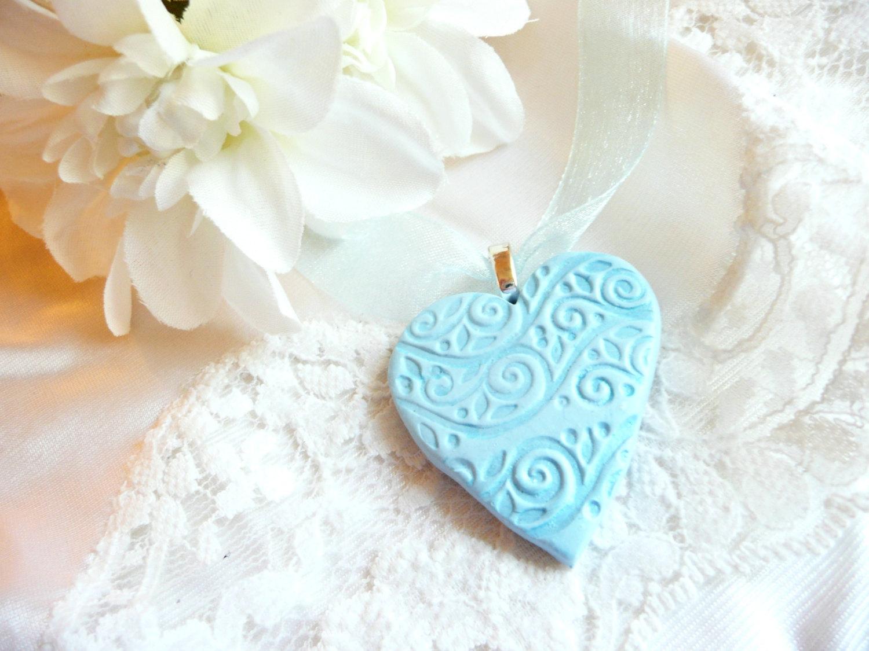 heart pendant blue