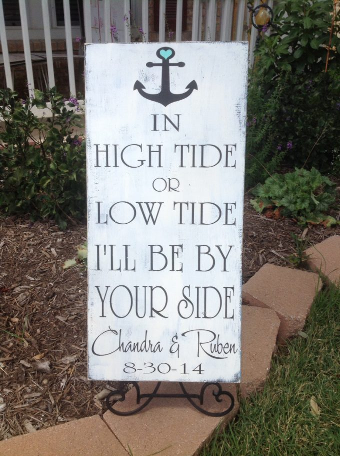 welcome sign | via 50+ nautical wedding theme ideas at EmmalineBride.com