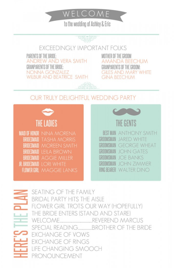 infographic wedding program 2