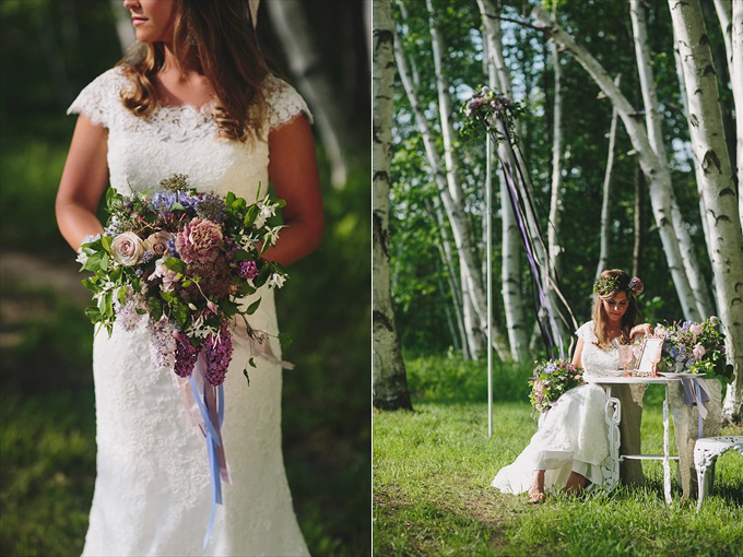 maypole bride with wedding bouquet Love Spring Weddings?  A Maypole Inspirational Shoot at Castle Farms in Charlevoix, Michigan | Love Weddings Maypole | https://www.emmalinebride.com/real-weddings/love-spring-weddings-a-maypole-inspirational-shoot/ | Photo: E.C. Campbell Photography