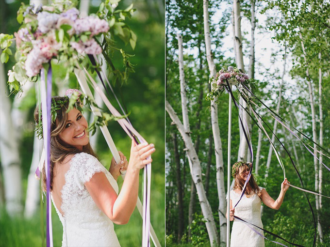 maypole wedding inspirational photo shoot bride ribbons Love Spring Weddings?  A Maypole Inspirational Shoot at Castle Farms in Charlevoix, Michigan | Love Weddings Maypole | https://www.emmalinebride.com/real-weddings/love-spring-weddings-a-maypole-inspirational-shoot/ | Photo: E.C. Campbell Photography