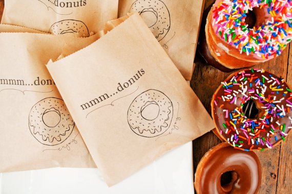 mmm donuts - edible wedding favors