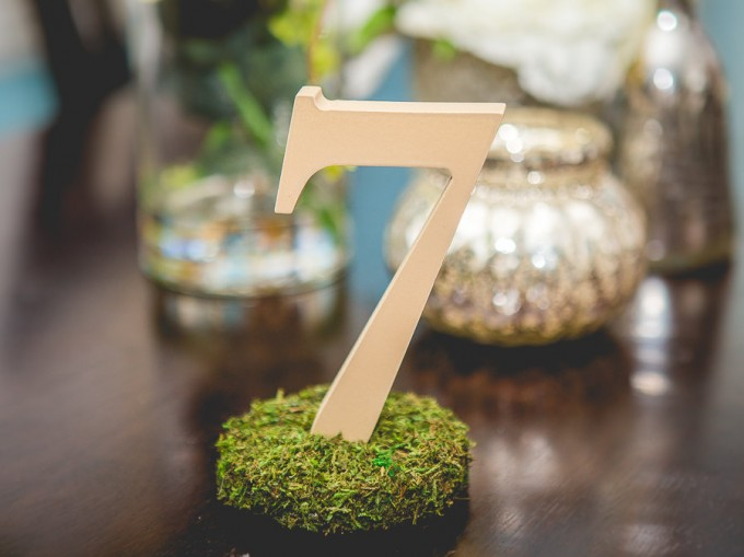 Why you need table numbers for your wedding | table number | via https://emmalinebride.com/reception/do-you-need-table-numbers/