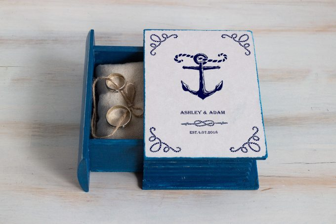 nautical wedding theme ring box