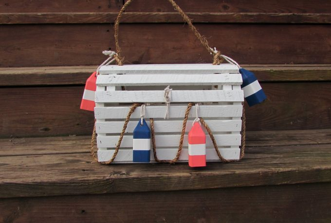 lobster trap wedding card box | via 50+ nautical wedding theme ideas at EmmalineBride.com