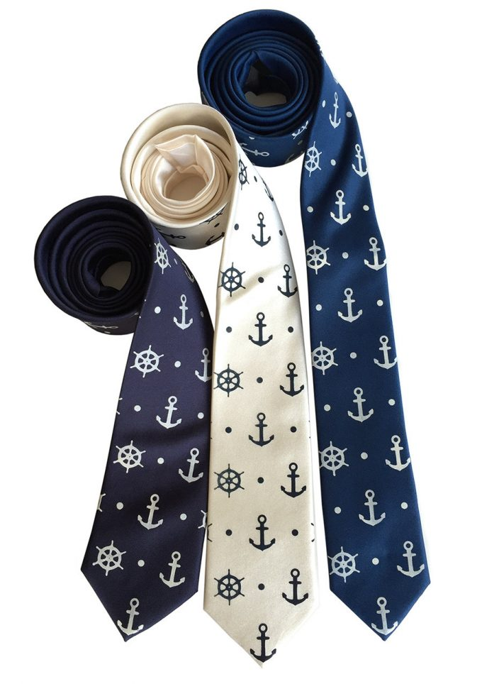 theme neckties | via 50+ nautical wedding theme ideas at EmmalineBride.com
