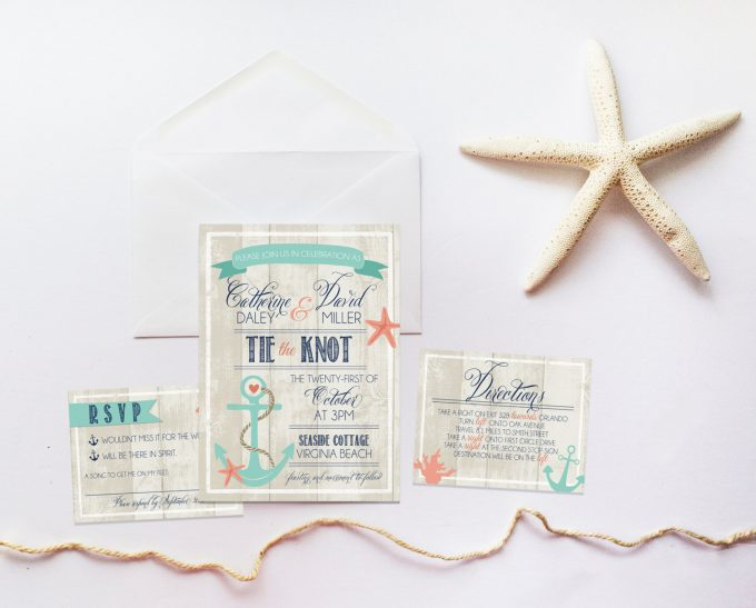 nautical invites | via 50+ nautical wedding theme ideas at EmmalineBride.com