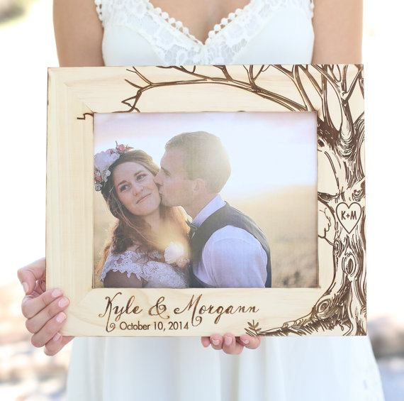 personalized wood frame