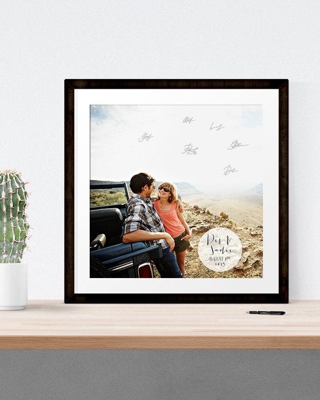 How To Make an Awesome Photo Guest Book | Print: Miss Design Berry | find out more: https://emmalinebride.com/reception/photo-guest-book/