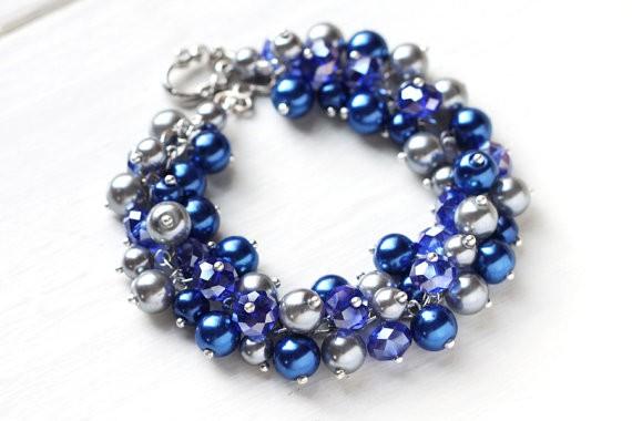 sapphire blue bracelet by skyejuice
