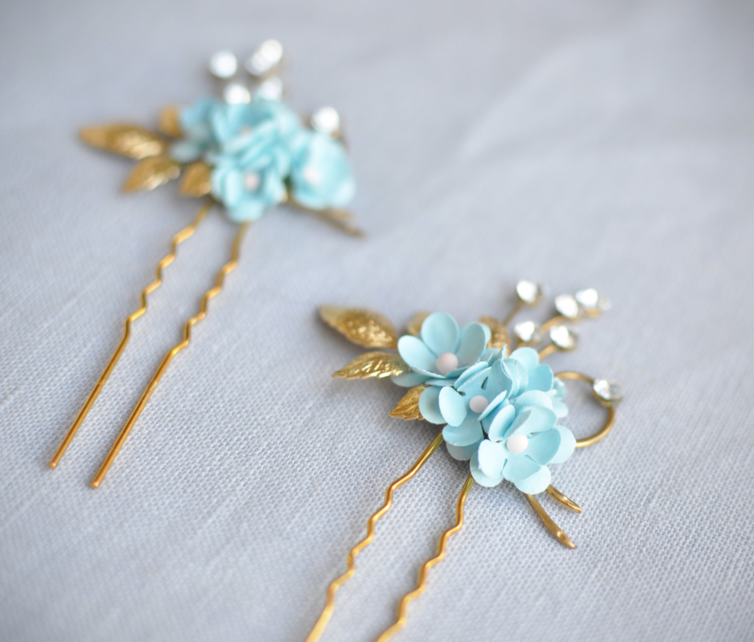 something blue hair pin by januaryroseboutique