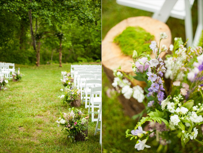 spring wedding floral decor outdoor ceremony | Kelly and Paul's Rustic Spring Wedding in Georgia (Georgia Weddings) | http://www.emmalinebride.com/real-weddings/a-magnificent-rustic-spring-wedding-in-georgia-weddings/ | photo: You Are Raven
