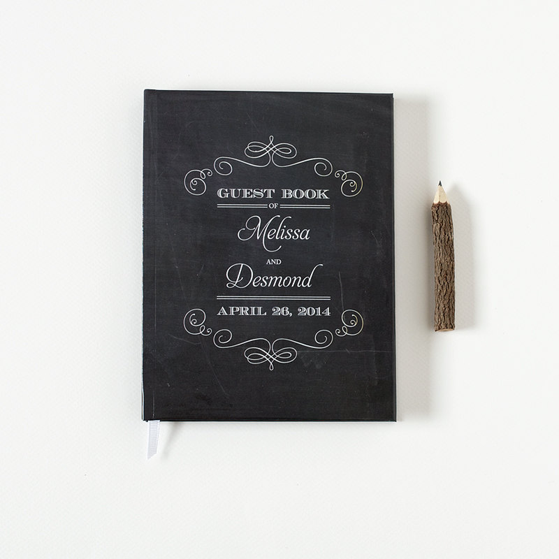 wedding chalkboard guest book