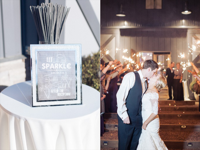 wedding sparkler send off | A Beautiful Sainte Terre Louisiana Wedding(Real Weddings) | http://www.emmalinebride.com/real-weddings/a-beautiful-sainte-terre-wedding-in-louisiana-real-weddings/ | Photo:  Photography by Micahla Wilson