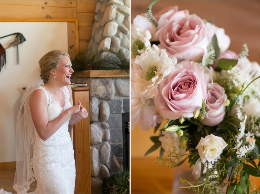 bride wedding flowers A Kansas City Wedding at the Buffalo Lodge (Rustic Weddings)| Kansas City Buffalo Lodge Weddings| http://www.emmalinebride.com/real-weddings/a-kansas-city-wedding-at-the-buffalo-lodge-rustic-weddings/| Photo: Jana Marie Photography