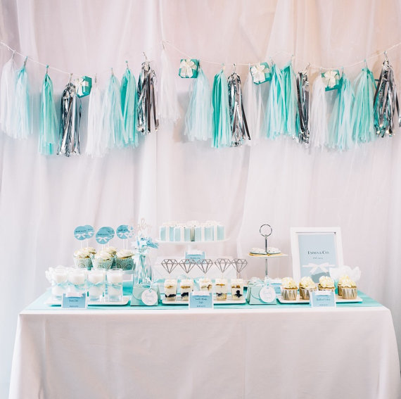 cute setup for tiffanys bridal shower