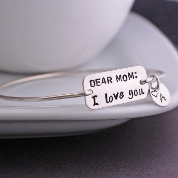 dear mom i love you bangle bracelet