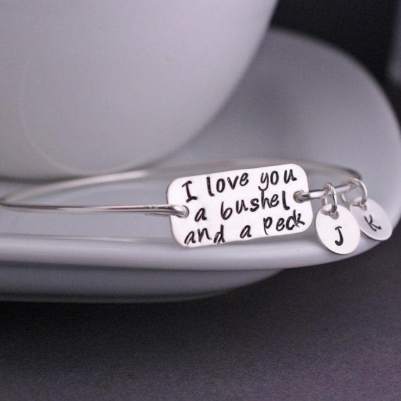 i love you a bushel and a peck bracelet