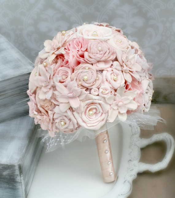 pink blush sola flower bouquet