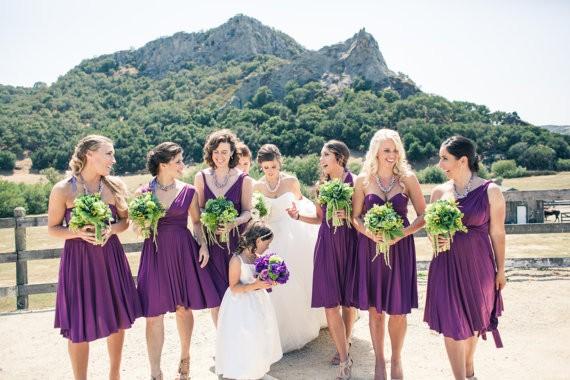 purple convertible bridesmaid dresses