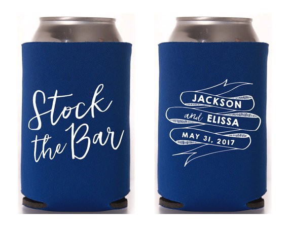 stock the bar koozies