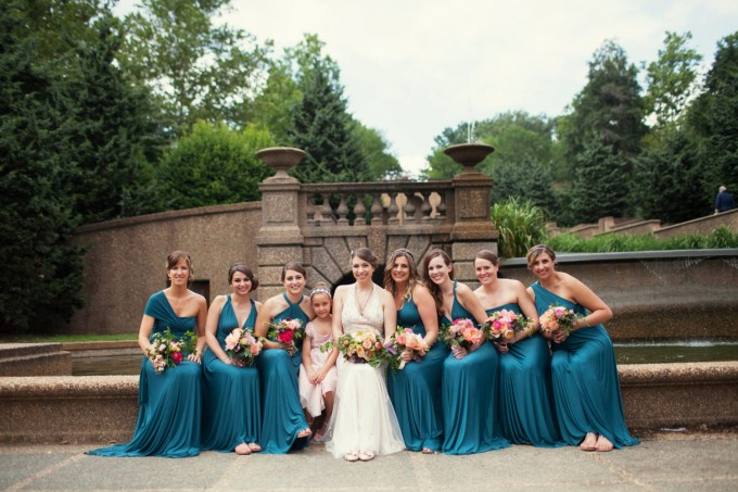 teal infinity dresses