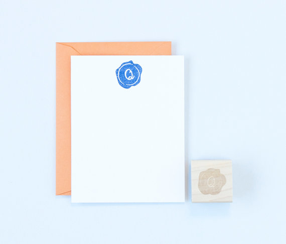 How to Make Thank You Cards for Weddings | stamp by Felicette | via https://emmalinebride.com/how-to/make-thank-you-cards/