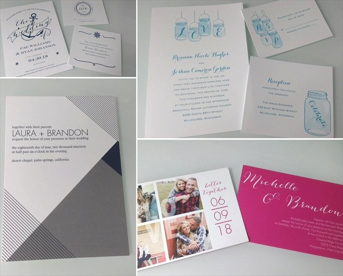 wedding invitations by David's Bridal