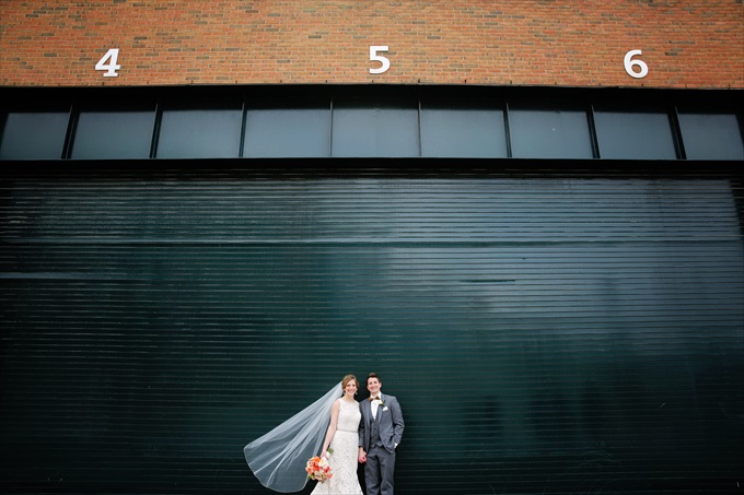 Tigers_stadium_bride_groom_detroit_wedding Downtown Detroit Wedding - https://emmalinebride.com/real-weddings/a-beautiful-downtown-detroit-wedding-nick-jeannine/ | Michigan wedding photographer - The Camera Chick