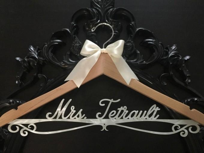 acrylic wedding dress hanger