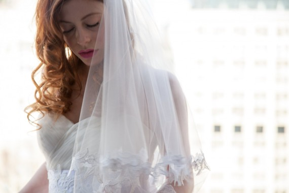 alessandra elbow length bridal veil