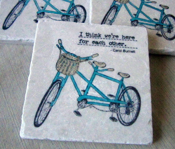 bicycle wedding coaster favors