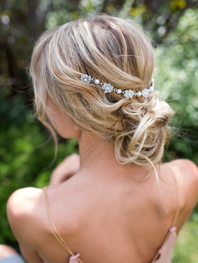 boho bridal hair chain 2