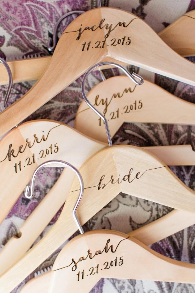 custom engraved dress hangers for bridesmaids