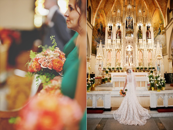 detroit_wedding_flowers_bride_sweetest_heart_of_mary_catholic_church Downtown Detroit Wedding - https://emmalinebride.com/real-weddings/a-beautiful-downtown-detroit-wedding-nick-jeannine/ | Michigan wedding photographer - The Camera Chick