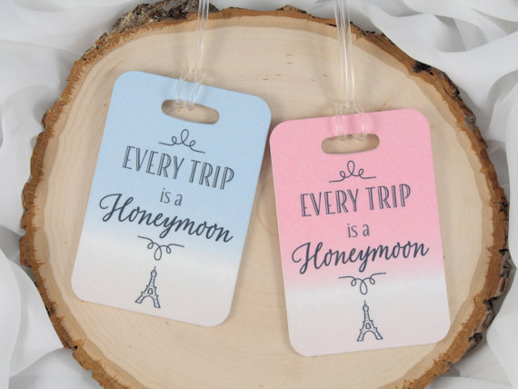 every trip is a honeymoon luggage tags
