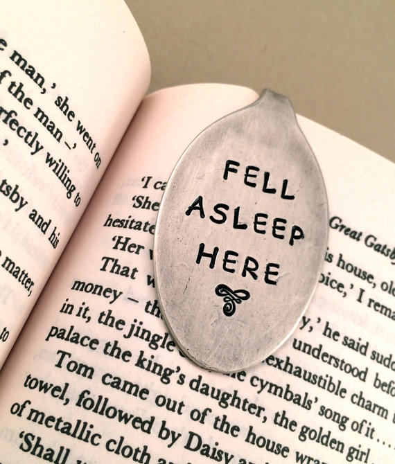 fell asleep here bookmark by EATcreations