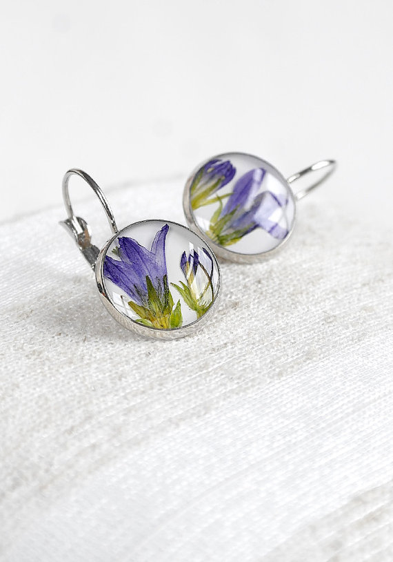 flower bell earrings by KvitkaSonze | unique gifts for mom