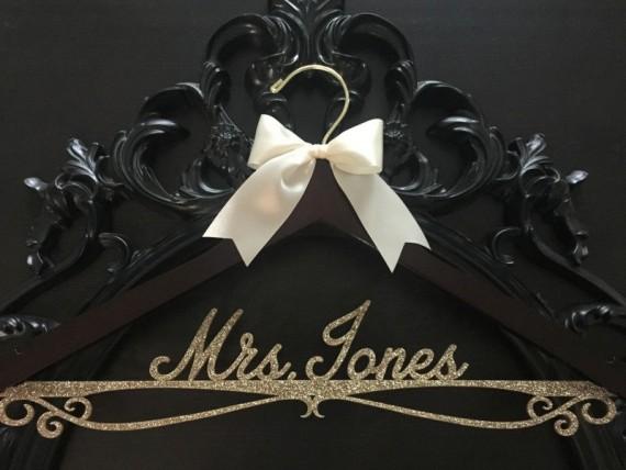 gold wedding dress hanger