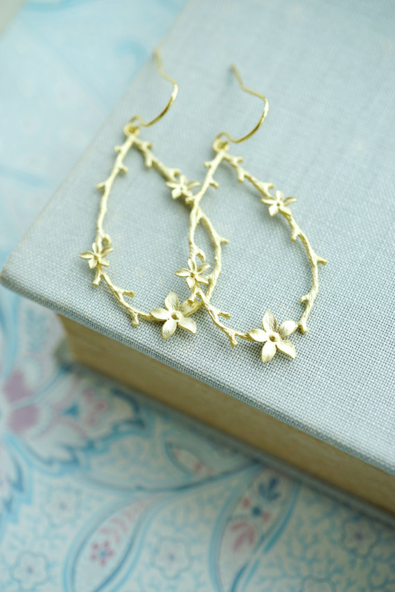 gold wreath earrings by marolsha | unique gifts for mom