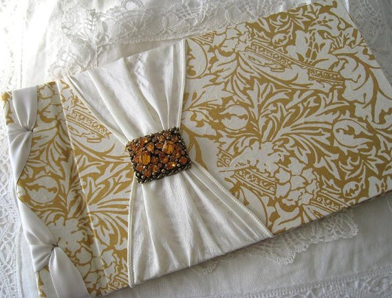 ivory and gold guest book | traditional guest book ideas http://emmalinebride.com/guest-book/traditional-guest-book