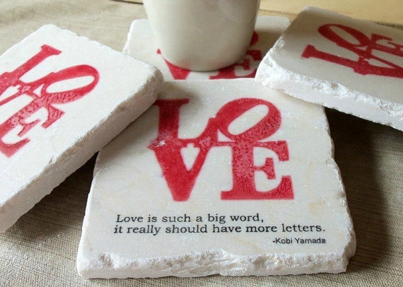 love wedding favor coasters