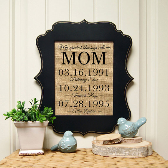 mothers day print with dates by sandybranchcompany | unique gifts for mom